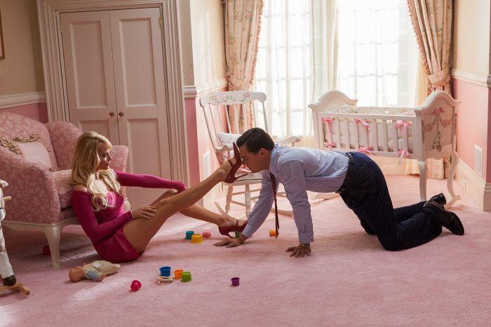 Margot Robbie und Leonardo DiCaprio in 'The Wolf of Wall Street' (2014)